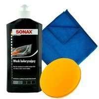 Wosk koloryzujący czarny Sonax 500ml + aplikator + mikrofibra