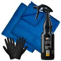 Zestaw: Dressing ADBL Interior WOW bananowy 500ml + 2 mikrofibry Sonax i rękawiczki