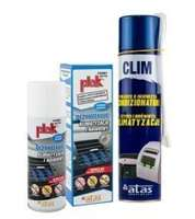 Zestaw do czyszczenia i odgrzybiana klimatyzacji Plak Antibatterico 200ml +Atas Clim spray 400ml
