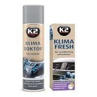 Zestaw: do klimatyzacji K2 Klima Doktor 500ml + Klima Fresh Blueberry 150ml