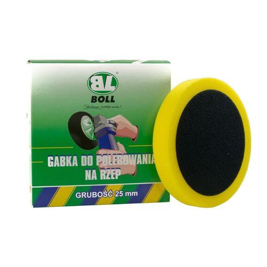 Boll gąbka polerska żółta średnio twarda na rzep 150/25mm