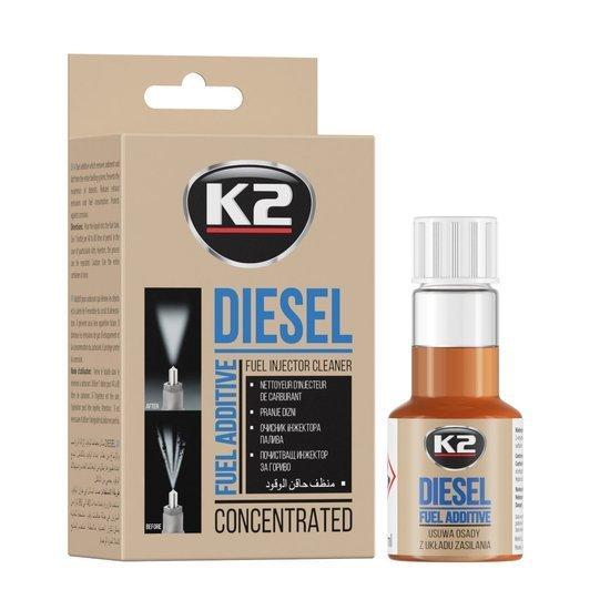 K2 Diesel formuła do czyszczenia wtrysków wtryskiwaczy diesla 50ml
