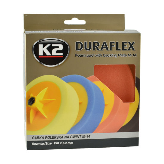 K2 Duraflex głowica polerska z gąbką pomarańczowa średniościerna gwint M14
