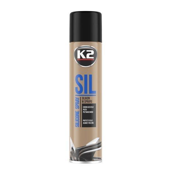 K2 Sil silikon w sprayu do konserwacji uszczelek i gumy 300ml