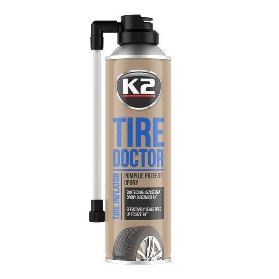 K2 Tire Doktor koło zapasowe w sprayu do pompowania opon 400ml