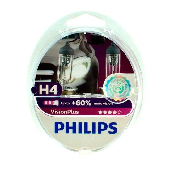 Philips H4 VisionPlus +60% Box 2szt