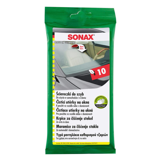 Sonax ściereczki do szyb - opakowanie 10 sztuk