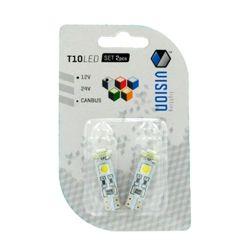 Żarówka LED Vision -  T10 3 LED SMD CANBUS 1,4W biała 2szt