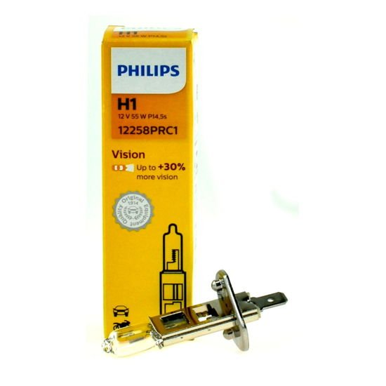 Żarówka samochodowa H1 Philips VisionPlus +30% - 1szt